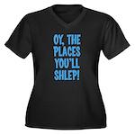 Oy The Places You'll Shlep! Women's Plus Size V-Ne