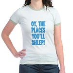 Oy The Places You'll Shlep! Jr. Ringer T-Shirt
