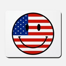 Patriotic Smiley Face Mousepad