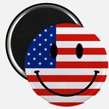 Patriotic Smiley Face Magnet