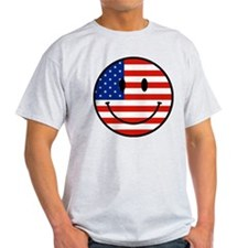 Patriotic Smiley Face T-Shirt