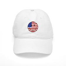 Patriotic Smiley Face Baseball Cap