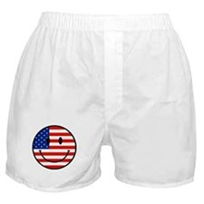 Patriotic Smiley Face Boxer Shorts