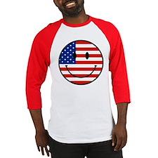Patriotic Smiley Face Baseball Jersey