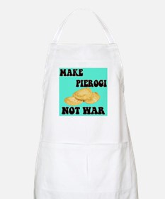 MAKE PIEROGI NOT WAR BBQ Apron