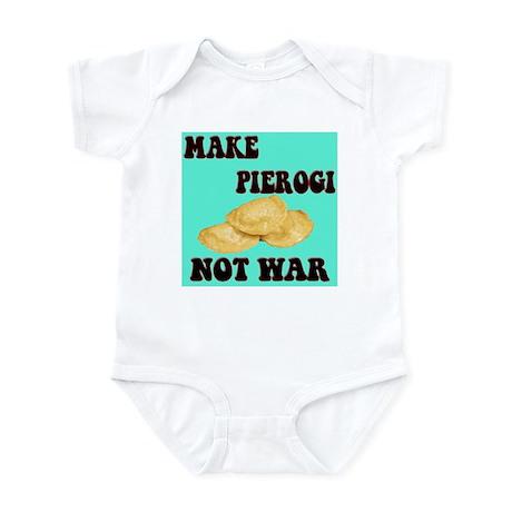 MAKE PIEROGI NOT WAR Infant Bodysuit