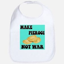 MAKE PIEROGI NOT WAR Bib