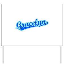 Retro Gracelyn (Blue) Yard Sign