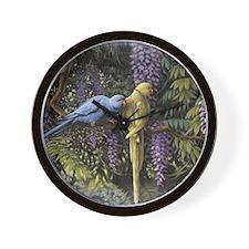 Eternal Garden Wall Clock -(parrots)