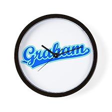 Retro Graham (Blue) Wall Clock