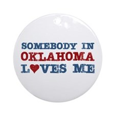 Somebody in Oklahoma Loves Me Ornament (Round)