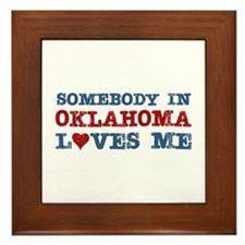 Somebody in Oklahoma Loves Me Framed Tile