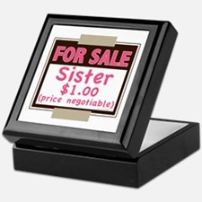 For Sale Sister $1 Keepsake Box