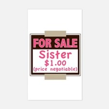 For Sale Sister $1 Rectangle Decal