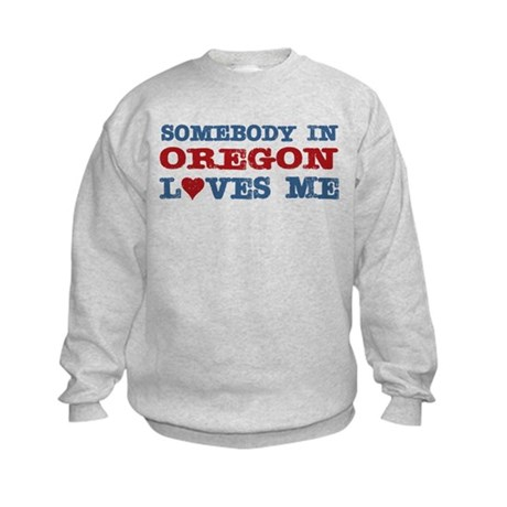 Somebody in Oregon Loves Me Kids Sweatshirt