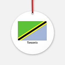 Tanzania Flag Keepsake (Round)