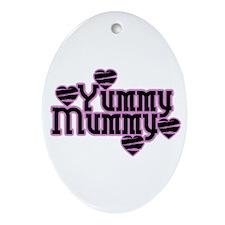 Pink Yummy Mummy Oval Ornament