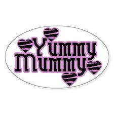 Pink Yummy Mummy Oval Decal