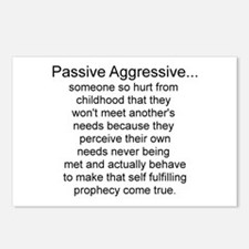 Cute Aggressive Postcards (Package of 8)