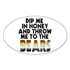 Honey Oval Bumper Stickers