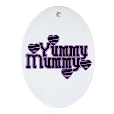 Purple Yummy Mummy Oval Ornament