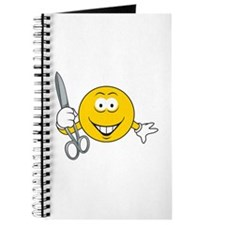 Smiley Face With Scissors Journal