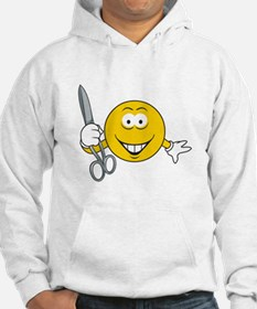 Smiley Face With Scissors Hoodie