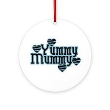 Blue Yummy Mummy Ornament (Round)