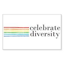 celebrate diversity Rectangle Sticker 50 pk)