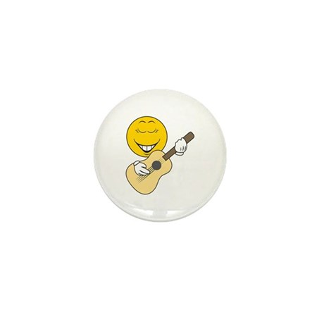 Guitarist Smiley Face Mini Button (10 pack)