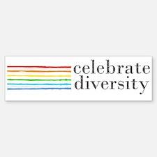 celebrate diversity Bumper Bumper Bumper Sticker