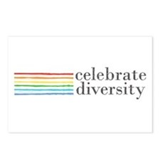 celebrate diversity Postcards (Package of 8)