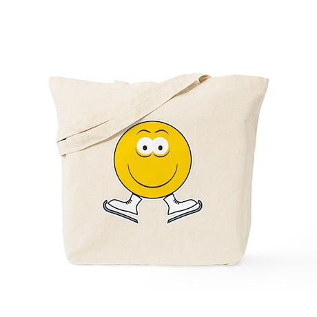 Ice Skating Smiley Face Tote Bag