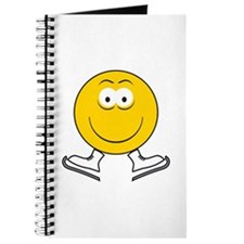Ice Skating Smiley Face Journal