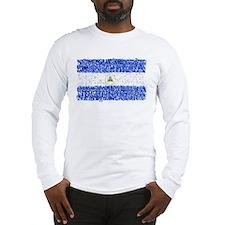 Textual Nicaragua Long Sleeve T-Shirt