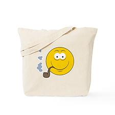 Pipe Smoking Smiley Face Tote Bag
