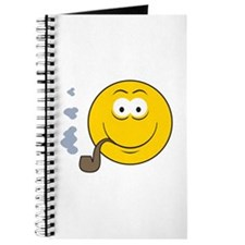 Pipe Smoking Smiley Face Journal