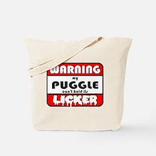 Puggle LICKER Tote Bag