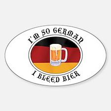 I'm So German I Bleed Bier Oval Sticker (10 pk)