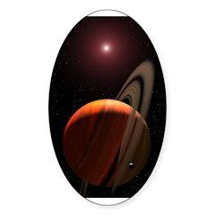 Space12 Oval Sticker (10 pk)