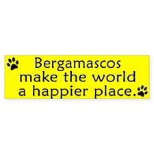 Happy Place Bergamasco Bumper Bumper Sticker