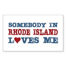 Somebody in Rhode Island Loves Me Decal