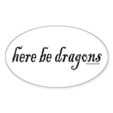 Dragons 1 Oval Sticker (10 pk)