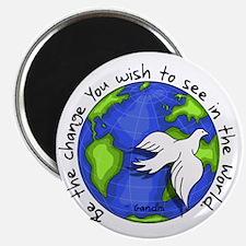 World Peace Gandhi - 2008 Magnet