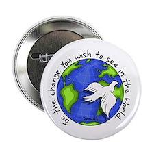 "World Peace Gandhi - 2008 2.25"" Button"