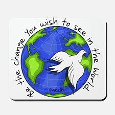 World Peace Gandhi - 2008 Mousepad