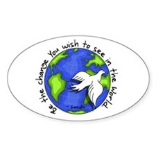 World Peace Gandhi - 2008 Oval Decal