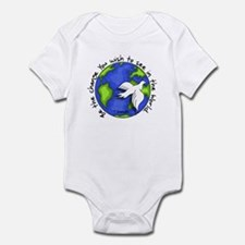 World Peace Gandhi - 2008 Infant Bodysuit