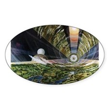 Space Colony Oval Decal