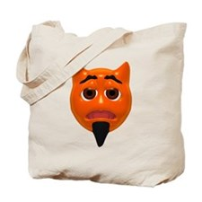 Worried Devil Face Tote Bag